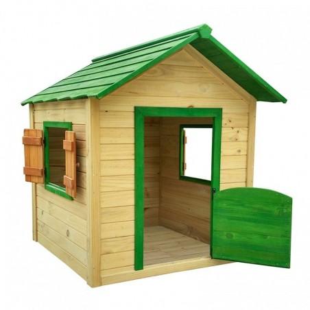 Casita de madera para jardín infantil Kela verde 12 mm