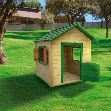 Casita de madera para niños Kela verde