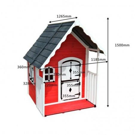 Medidas casita de madera infantil Anny