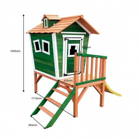 Medidas casita de madera infantil para jardín Nike