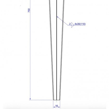 Medidas técnicas piqueta 7x7 cm