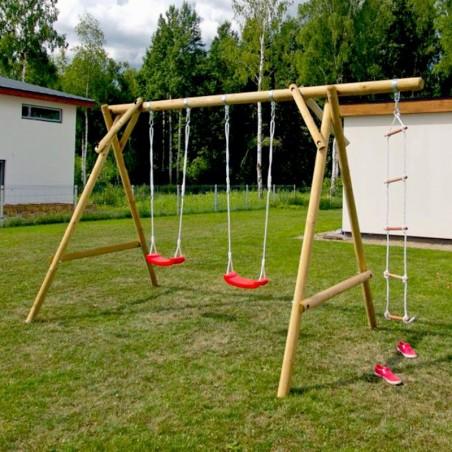 Columpio doble de madera - Parque infantil de madera Magnus