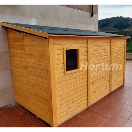 Cobertizo de madera para jardín Mia 16 mm, 333 x 165 cm. 5,2 m²