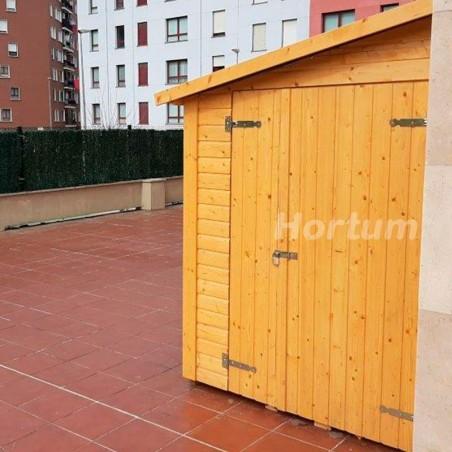 Cobertizo de madera Mia 16 mm, 333 x 165 cm. 5,2 m²