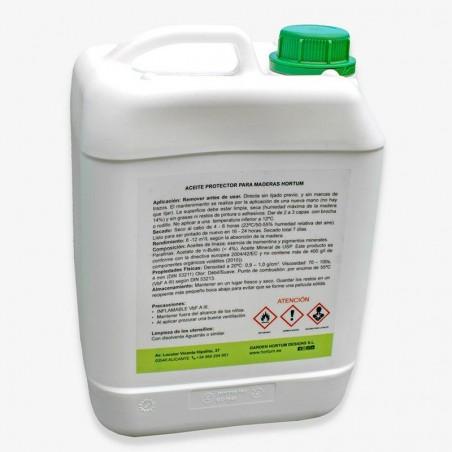 Aceite protector para madera a poro abierto 5L. Garden Hortum Oil