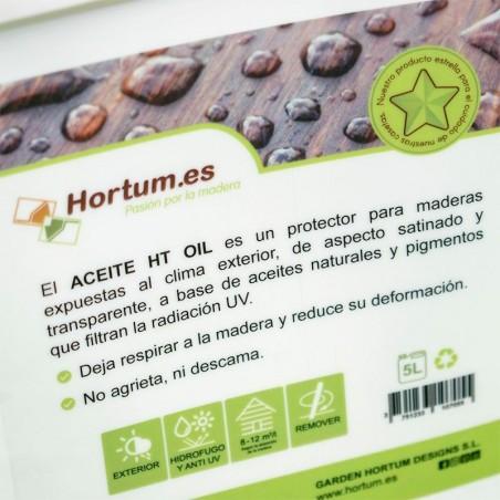 Aceite protector para madera interior y exterior 5L. Garden Hortum Oil