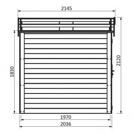 Medidas caseta de madera Tison 19 mm, 216 x 214 cm, 3,8 m2