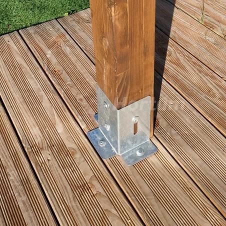 Bases metálicas para Poste pérgola de madera 3x3m Elda