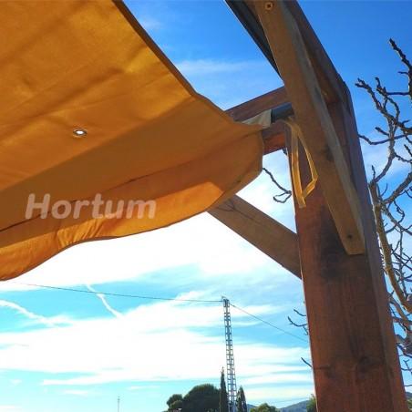 Toldo pérgola de madera 300x300cm Elda