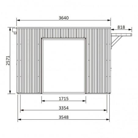 Medidas caseta modular de madera Studio Como 17m2
