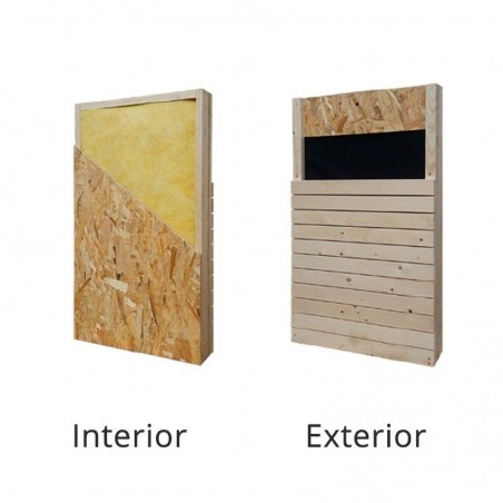 Revestimiento paredes Mini Casa de madera Studio 17 m²