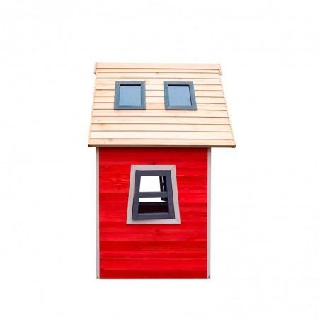 Casita de madera infantil Fantasy Red. 120 x 110 cm