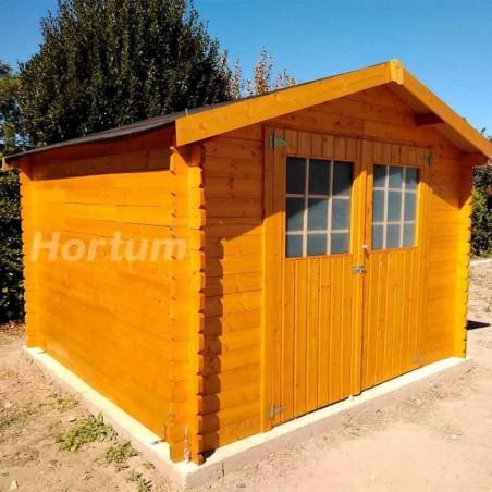 Caseta de madera Gran Flodova. 28mm, 300x300cm, 8.88 m2