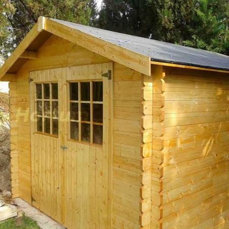 Caseta de madera para jardín Gran Flodova. 28mm, 300x300cm, 8.88 m2