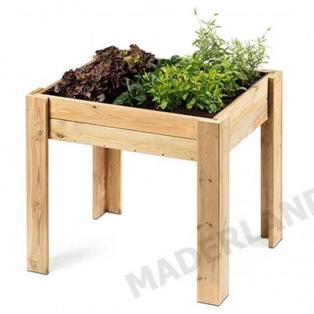Mesa de cultivo para huerto 80x45x75 cm, con una capacidad de 140 Litros.