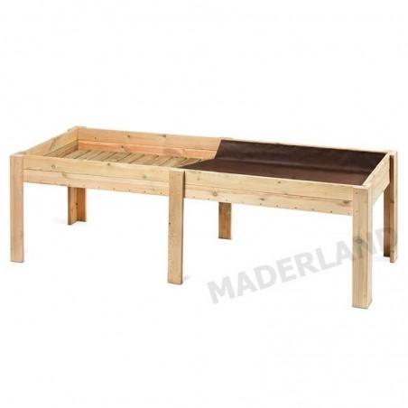 Huerto Urbano de madera tratada. 28 mm, 245x85x75 cm