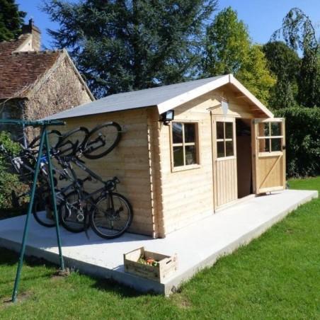 Caseta de madera Manil, util para guardar bicis