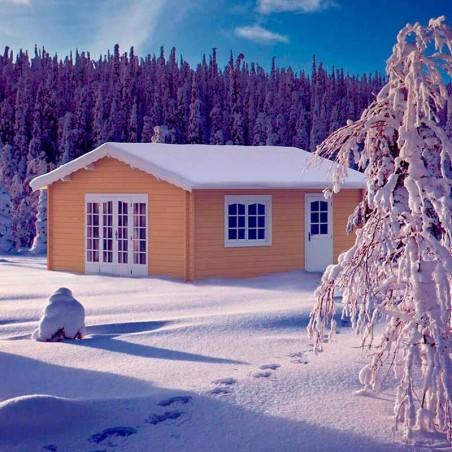 Casa de madera Irene de 70 mm de grosor