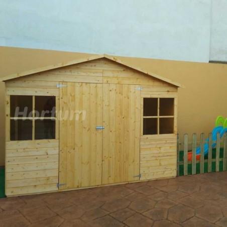 Caseta de madera para jardín Fresno - 12 mm