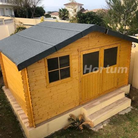 Caseta de madera Manil 12m2 como habitación en el jardín