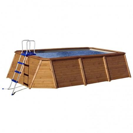 Piscina de madera prefabricada de 345 X 255 cm