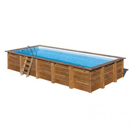 Piscina de madera prefabricada rectangular 800 x 400 cm
