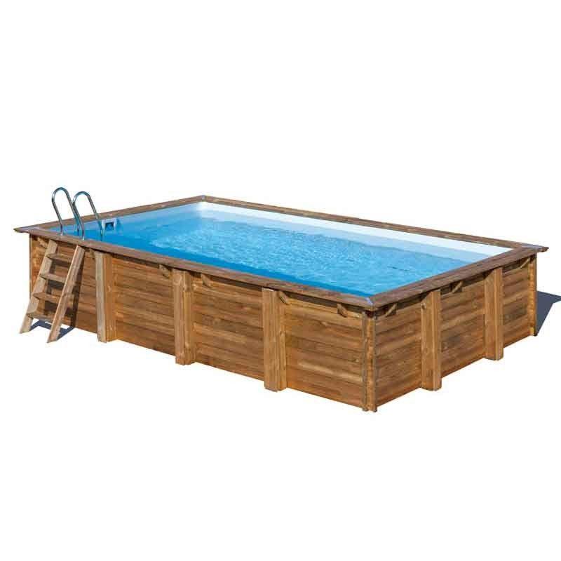 Piscina madera rectangular 600 x 400cm