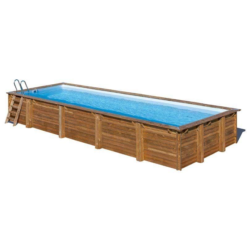Piscina madera rectangular 1000x400cm