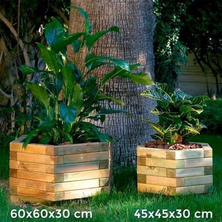 Jardineras de madera hexagonal