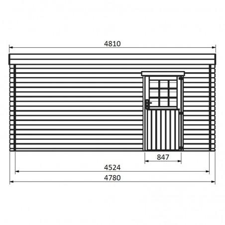 Medidas laterales garaje de madera Galán