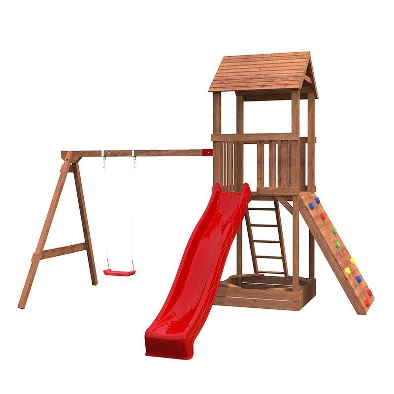 Parque infantil de madera Jesper 3 | 361x304x344