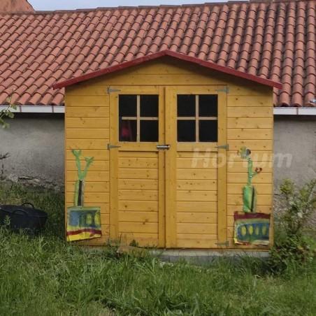 Caseta de madera para jardín Lode. 12 mm. 212 x 182 cm