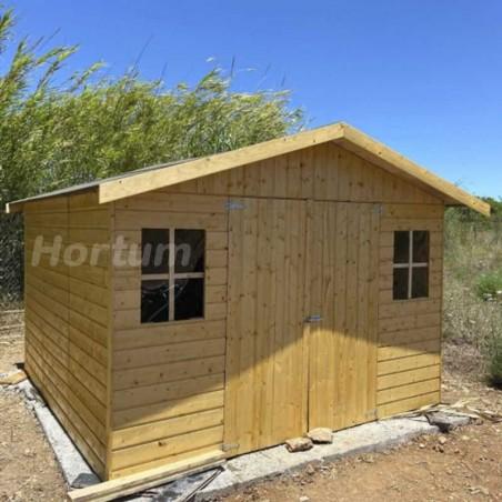 Resultado caseta de jardín en madera sobre base de hormigón