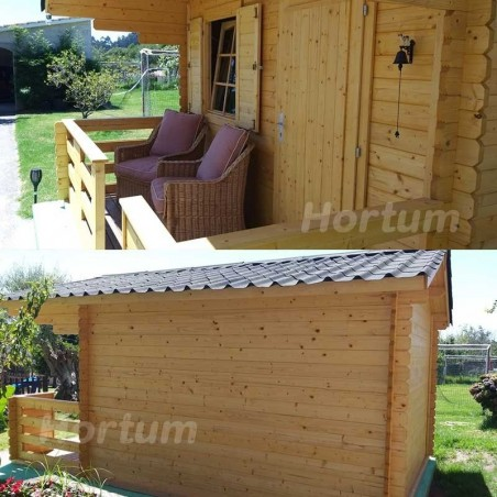 Caseta de Madera Emma 101885 Palmako. Caseta de madera amueblada