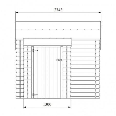Medidas armario lateral caseta de madera Talcy - Hortum