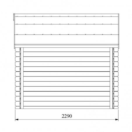 Medidas porche lateral caseta de madera Talcy - Hortum