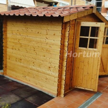 Teja asfáltica fiorentino instalada en caseta de madera