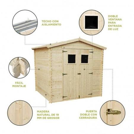Características caseta de madera Triglav