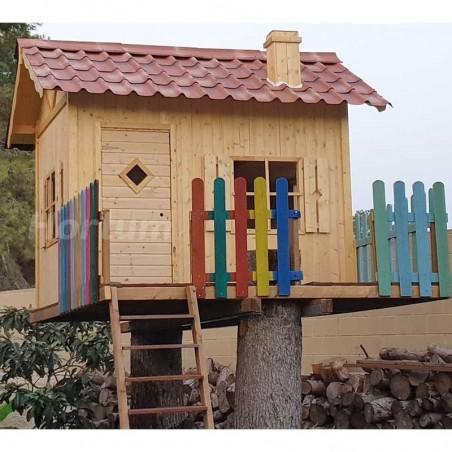 Casita de madera infantil Grete - Instalada en altura