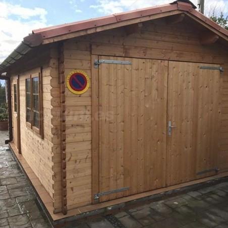 Kit teja asfáltica fiorentino 3D Garaje de madera Tony