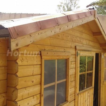 Remate lateral Onduvilla Fiorentino 3D para casetas de madera