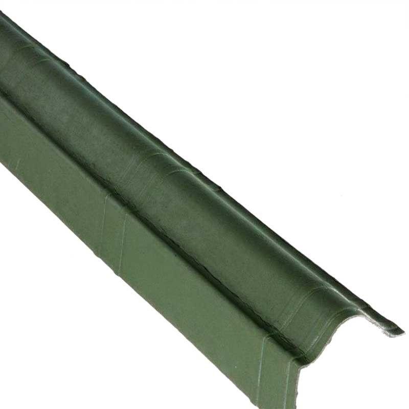 Remate latera en color verde para techos inclinados de casetas de madera