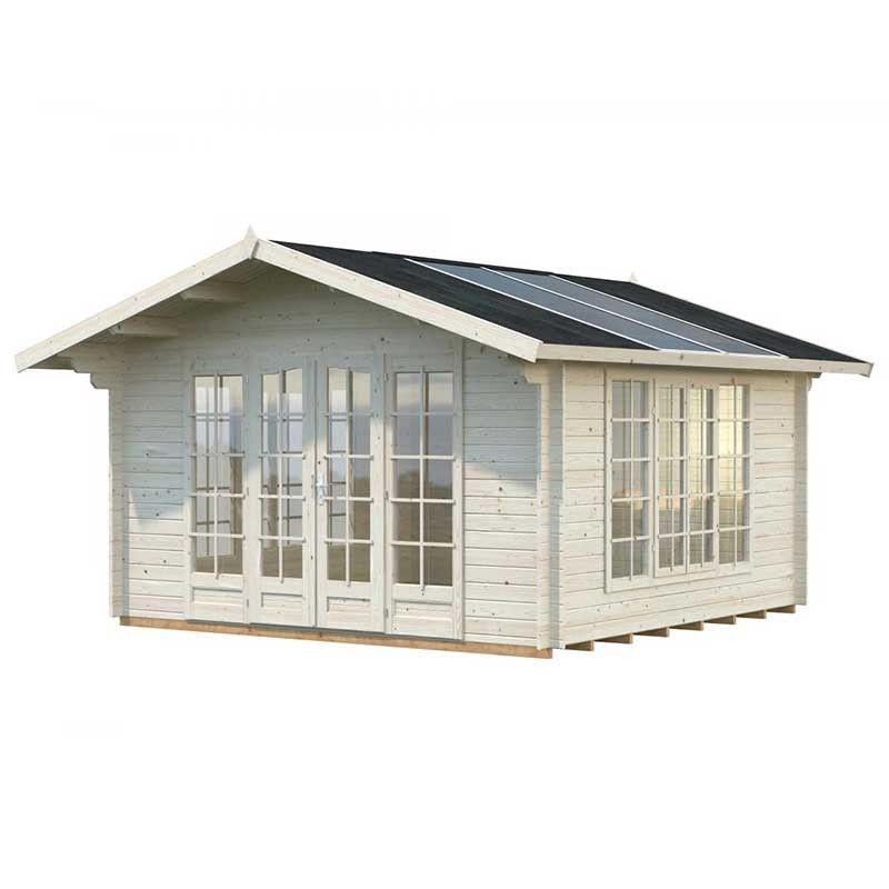 Caseta de madera Irene, 34 mm, 400 x 400 cm 13,9 m²