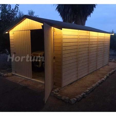 Garaje de madera prefabricado Brisa - Hortum.es