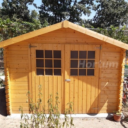 Caseta de madera de 3x3 m - Caseta Gran Flodova Hortum.es