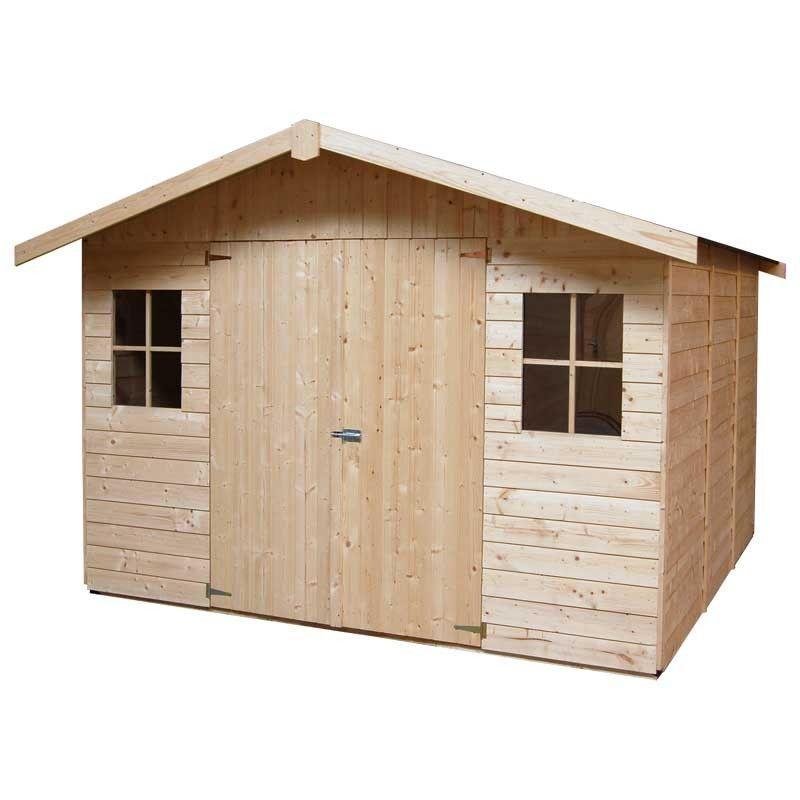 Caseta de madera para jardín Bonan - 274 x 281 cm