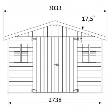 Medidas de la caseta de madera Bonan - Hortum.es
