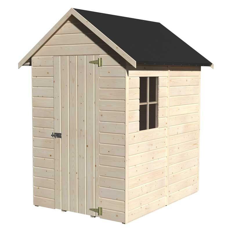 Cobertizo de madera Ambi 12 mm, 122 x 170 cm, 2,08 m²