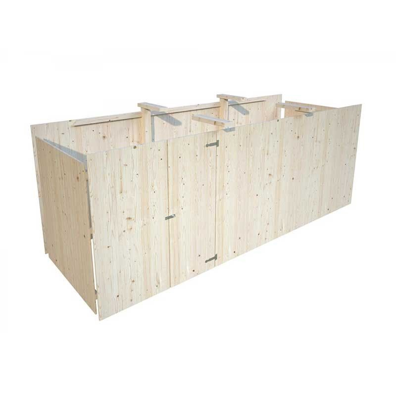 Almacén de madera para pergola de madera karl 40,6m2