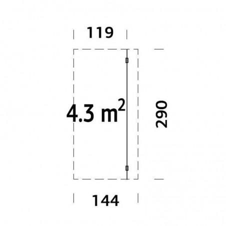 Medidas alero lateral para casetas de madera
